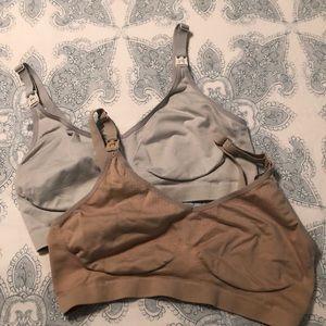 Two target nursing sleep bras, size L